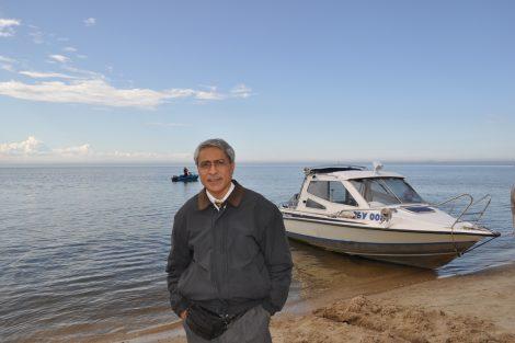 Benoy K Behl in Siberia, Lake Baikal