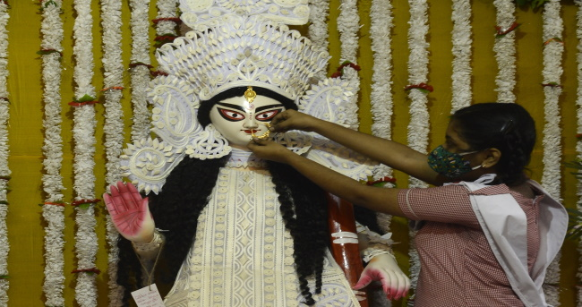 Saraswati Puja is also performed during the Sharad Navratri, in some states of south india